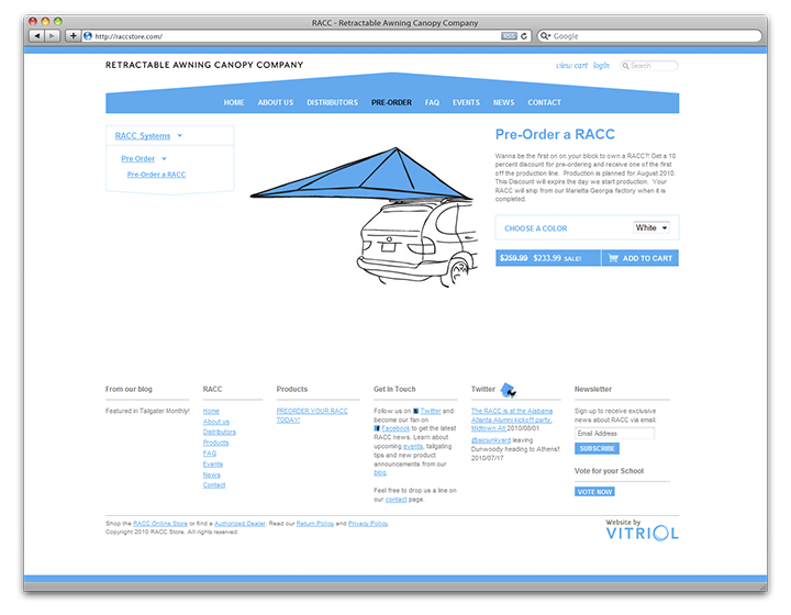 RACC Store product page