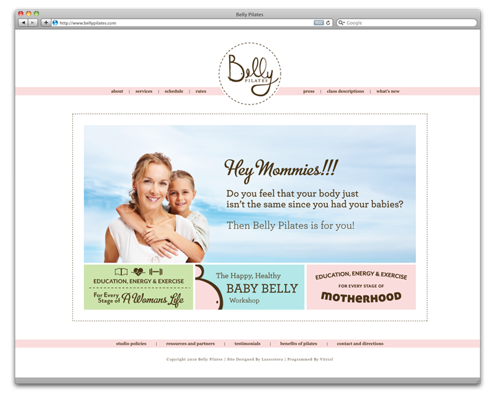 Belly Pilates home page